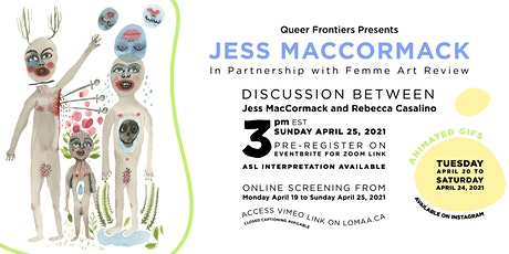 Queer Frontiers: Jess MacCormack in Discussion with Rebecca Casalino billets