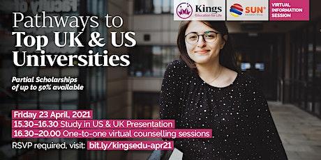 Kings Edu Info Session (USA & UK) - 23 April 2021 biglietti