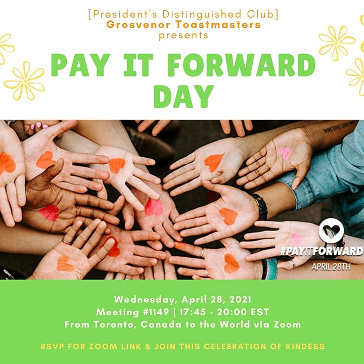 gTM Online Club Meeting #1149 - Theme: Pay It Forward Day image