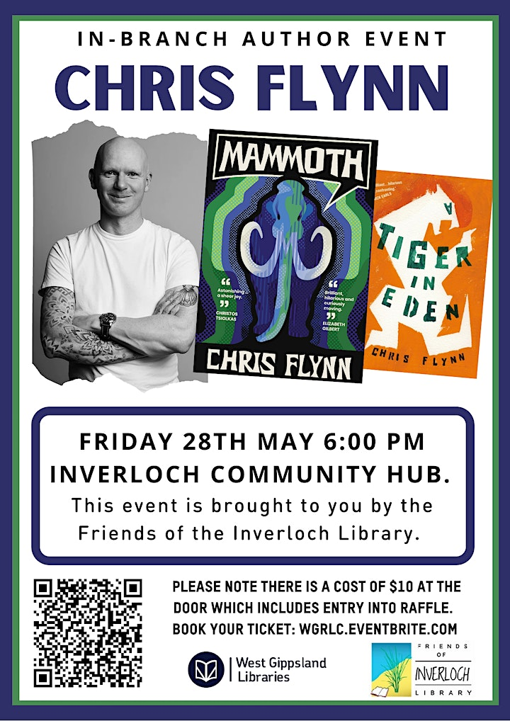 Author Talk with Chris Flynn at Inverloch Library image