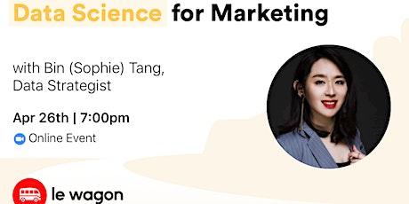 Data Science for Marketing - Online Talk tickets
