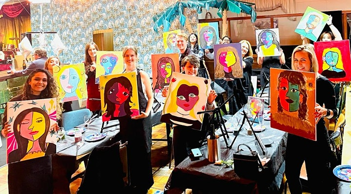 Paint and Sip Event - Paint Your Partner The Picasso Way! image