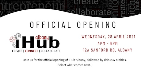 Opening of iHub Albany tickets