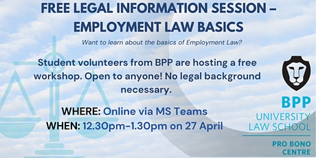 Free Workshop - Employment Law Basics for the Community tickets