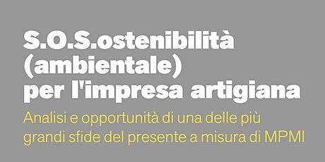 S.O.S.ostenibilità (ambientale) per l'impresa artigiana biglietti