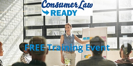 FREE  Virtual Consumer Law Training for Training Providers & Consultants tickets