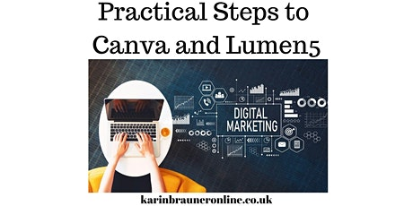 Content Marketing on Social Media with Canva and Lumen5 - Karin Brauner tickets