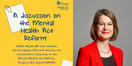 A discussion on the Mental Health Act Reform tickets