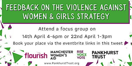 Ending Violence Against Women and Girls in Manchester - Focus groups tickets