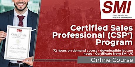 Certified Sales Professional (CSP®) Program tickets