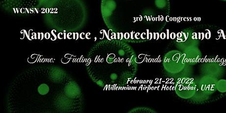 3rd World Congress on Nanoscience, Nanotechnology and Advanced Materials tickets