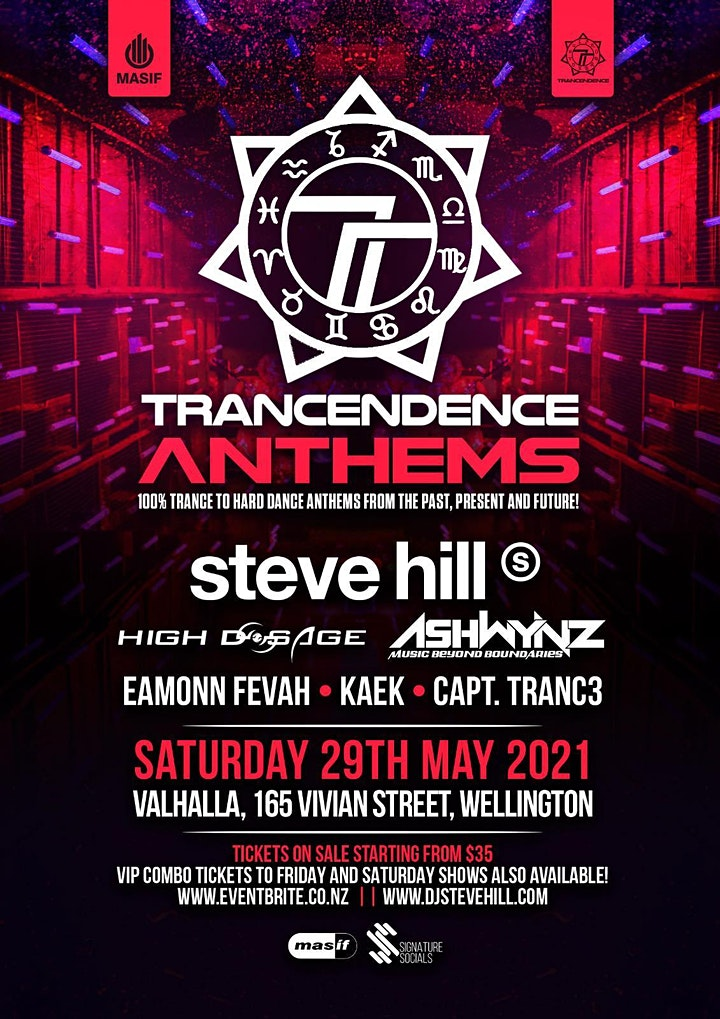 Trancendence Anthems Party: Anthems from the past, present and the future! image