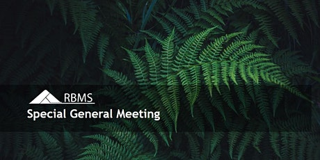 RBMS Special General Meeting tickets