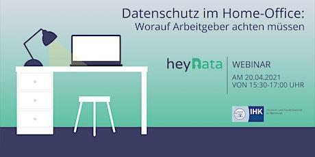 Online-Seminar: Datenschutz im Homeoffice Tickets