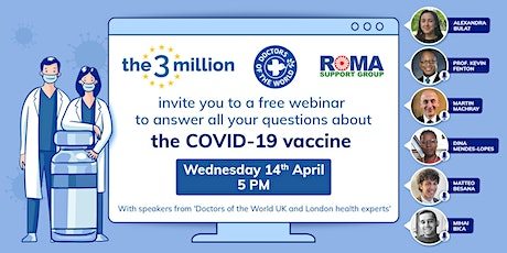 Free webinar to answer all your questions about the COVID-19 vaccine. tickets