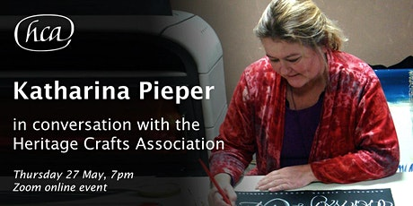 Katharina Pieper in conversation with the Heritage Crafts Association tickets