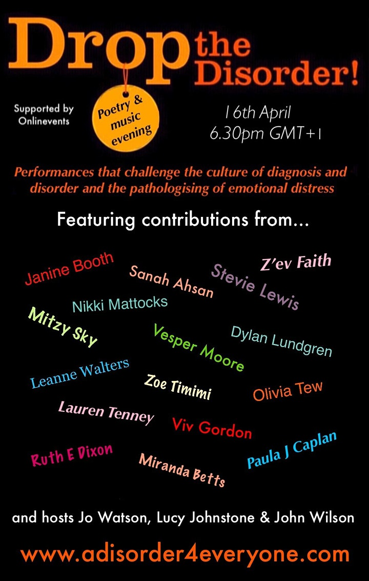 Drop the Disorder poetry & music evening image