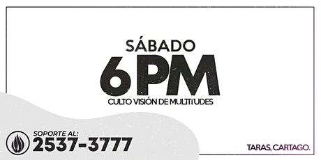 CULTO GENERAL SÁBADO 6 PM - 2021 boletos