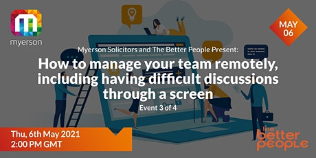 Event 3 – How to manage your team remotely tickets