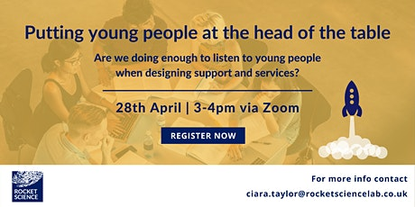 Rocket Science webinar: Putting young people at the head of the table tickets