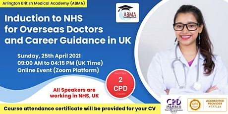 Induction To NHS for Overseas Doctors and Career Guidance in UK tickets