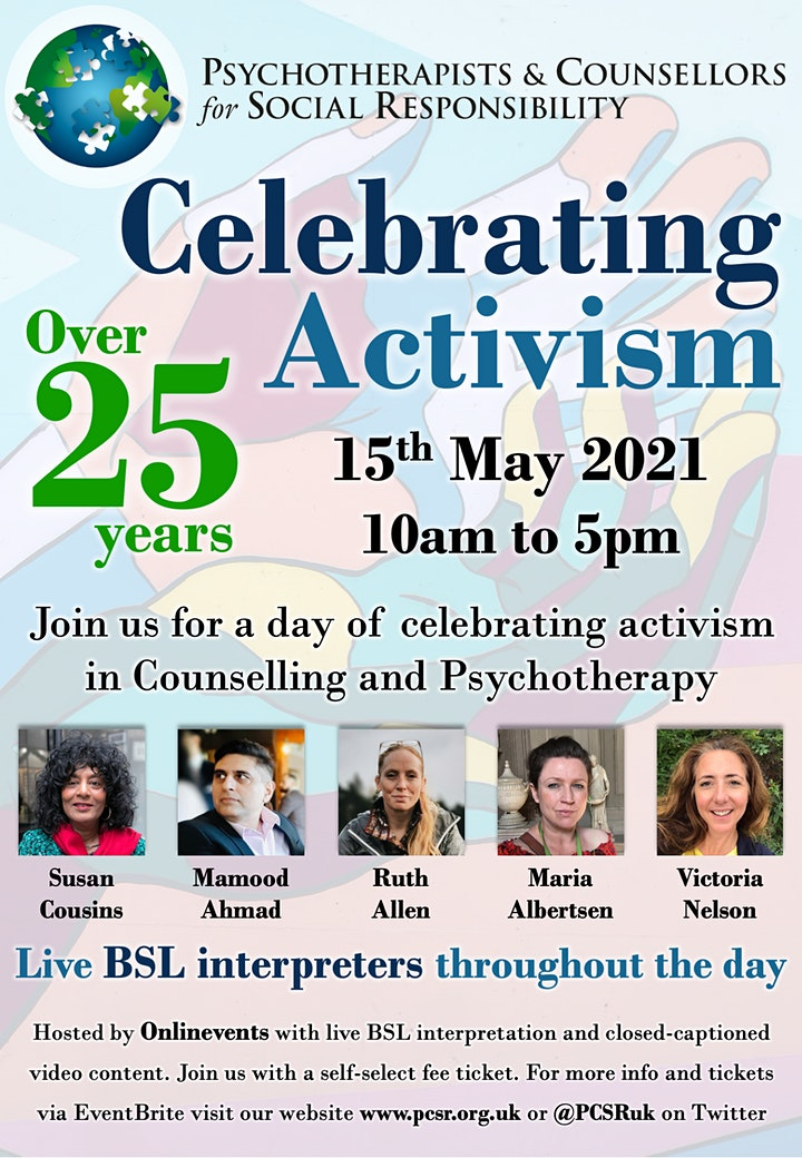 Celebrating Activism:Psychotherapists&Counsellors for Social Responsibility image