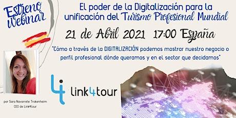 El poder de la Digitalización en el turismo profesional a nivel mundial bilhetes