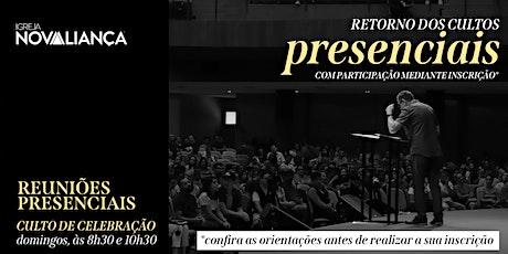 Culto Presencial INA Londrina - 8h30 ingressos