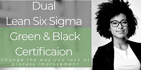 Dual Lean Six Sigma Green and Black Belt Certification Training Edison tickets