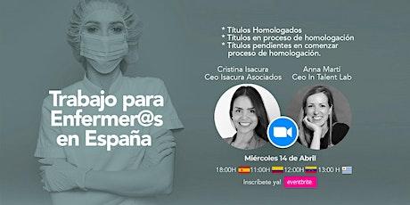 Webinar -Trabajo en España para  Enfermer@s entradas