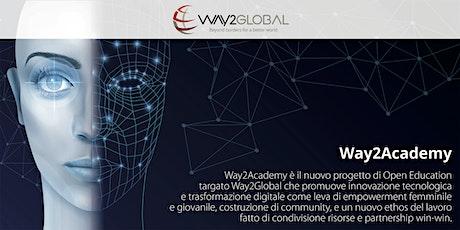 Way2Academy, un progetto di Open Education per future traduttrici digitali biglietti