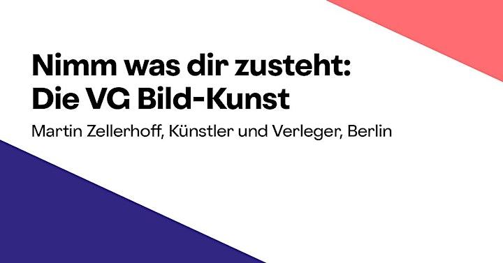 Online-Workshop »Nimm was dir zusteht: Die VG Bild-Kunst«: Bild