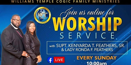 Williams Temple Sunday Service Registration tickets