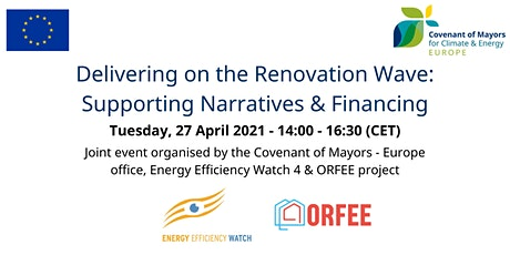 Delivering on the Renovation Wave:  Supporting Narratives & Financing tickets