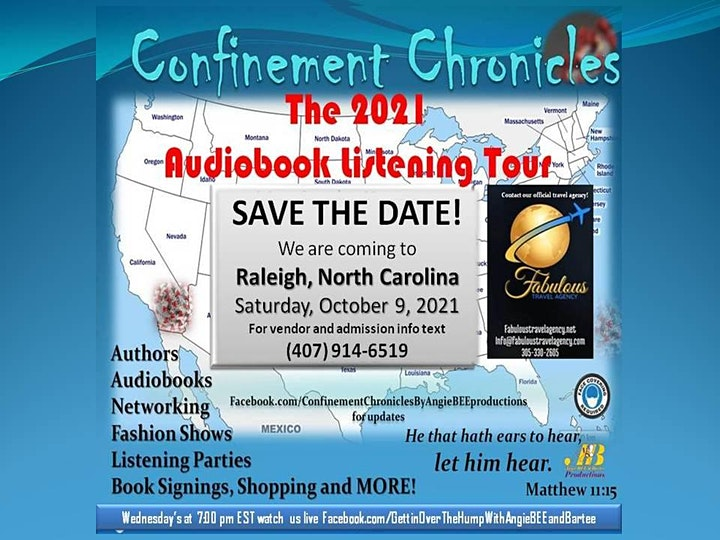 Confinement Chronicles - The  Audiobook Listening Tour - Raleigh, NC-Oct 9 image