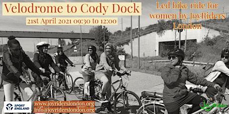 Intermediate led bike ride for women from Velodrome to Cody Dock tickets