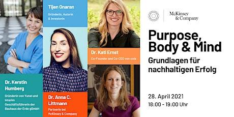 Purpose, Body & Mind - Grundlagen für nachhaltigen Erfolg | GDW x McKinsey Tickets