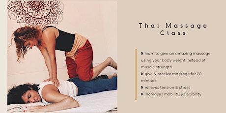 Thai Yoga Massage Class tickets