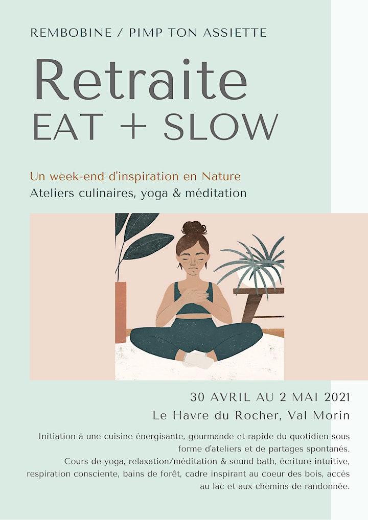 Image de Retraite EAT + SLOW 9 au 11 juillet 2021 - Couvent Val Morin