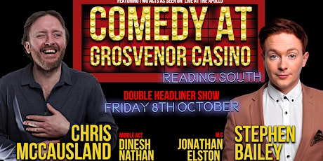 Comedy at Grosvenor Casino Reading South October tickets