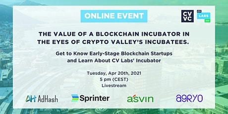 Value of a Blockchain Incubator in the Eyes of Crypto Valley's Incubatees tickets