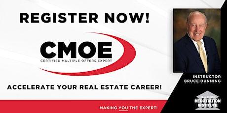 Certified Multiple Offers Expert (CMOE) -  Zoom Class (Bruce Dunning) tickets