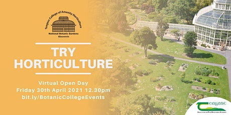 Try Horticulture April Virtual Open Day tickets