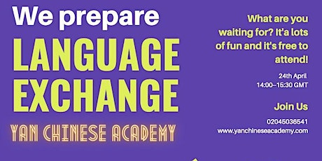 Fun and Friendly Chinese Language Exchange tickets
