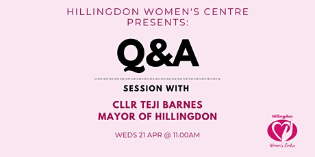 Q & A session with Cllr Teji Barnes Mayor of Hillingdon tickets