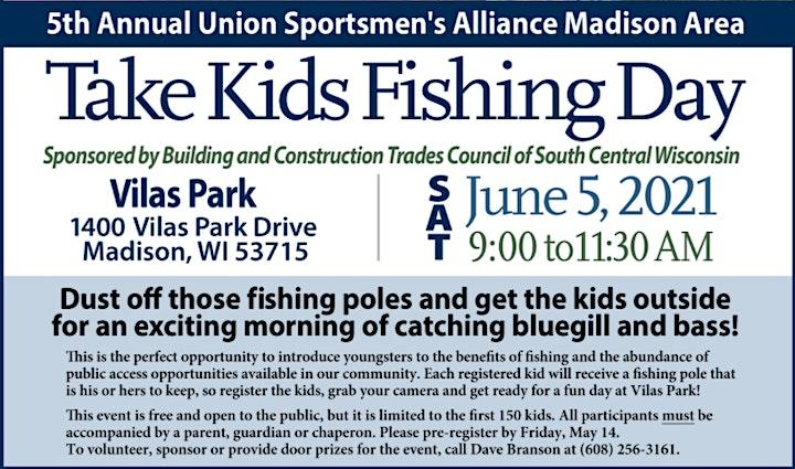 2021 Take Kids Fishing Madison WI image
