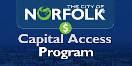 Capital Access Program Virtual Workshop  - Mandatory tickets
