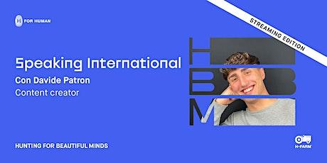 Speaking International. Incontro con Davide Patron biglietti