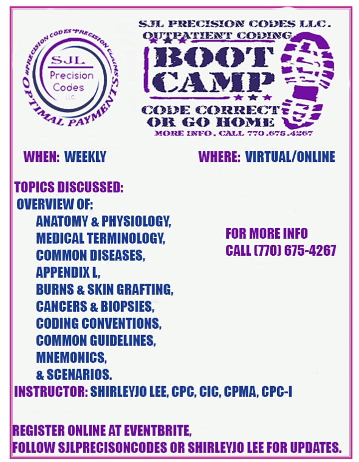 OUTPATIENT MEDICAL CODING BOOTCAMP  WITH INTERNSHIP -LIVE- EVENINGS image