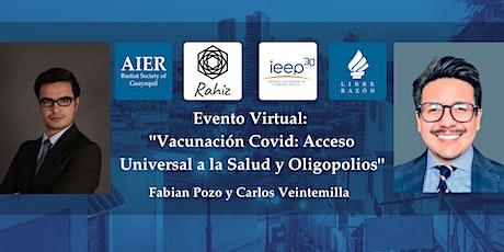 Guayaquil | Virtual: Vacunación Covid con Fabian Pozo y Carlos Veintemilla boletos